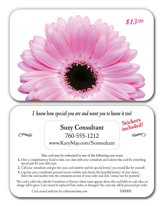 Pin Mary Kay Gift Certificate Template on Pinterest